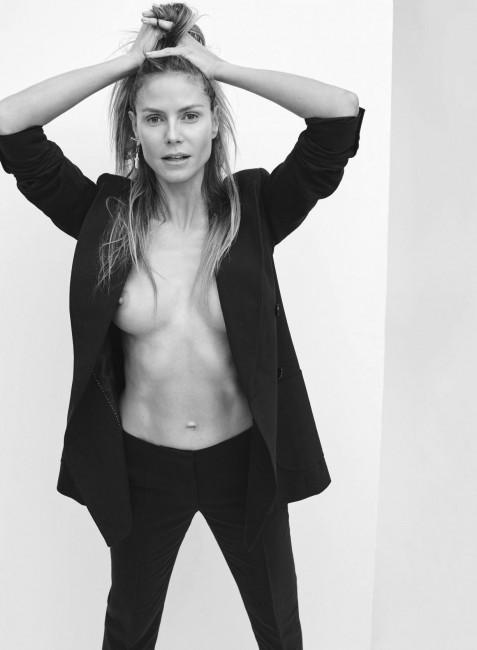 44-летняя Хайди Клум снялась голой для журнала Maxim