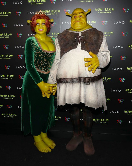 Хайди Клум и Том Каулитц в костюмах на Хэллоуин