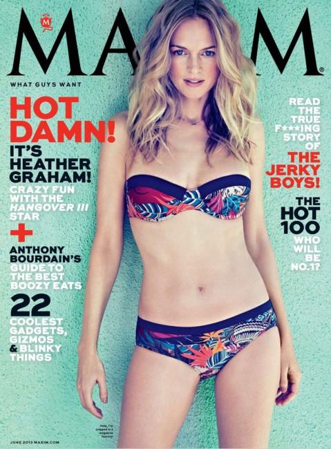 Актриса Хизер Грэм на обложке журнала Maxim