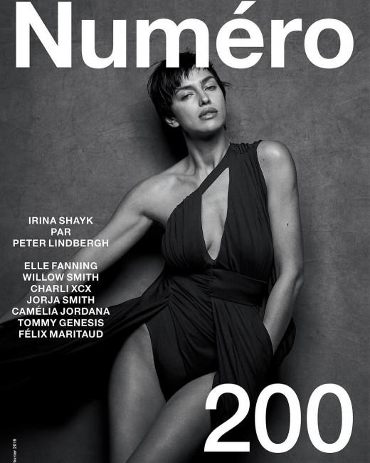 Ирина Шейк показала новую прическу и не только на обложке Numero