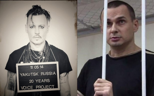 Джонни Депп поддержал украинского политзаключенного режиссера Олега Сенцова