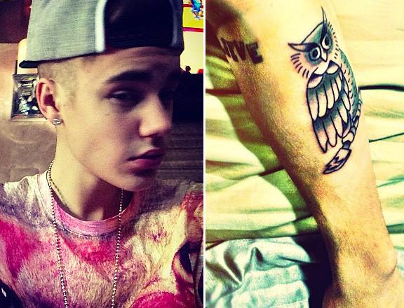 Джастин Бибер выложил в твиттере фото своей новой татуировки