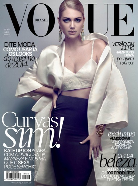 Супермодель Кейт Аптон на обложке июльского Vogue Brazil