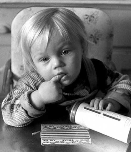 Ретрофото. Леонардо ди Каприо в детстве. США. 1976 год