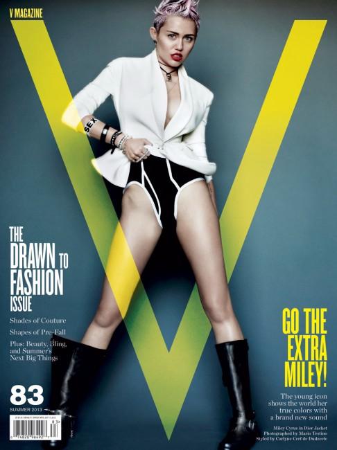 Майли Сайрус на обложке V Magazine