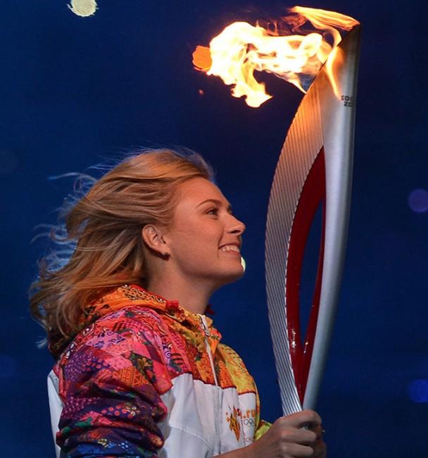 Мария Шарапова на церемонии открытия Олимпиады в Сочи