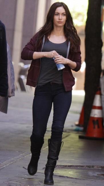Меган Фокс в Нью-Йорке на съемках фильма «Черепашки-ниндзя»
