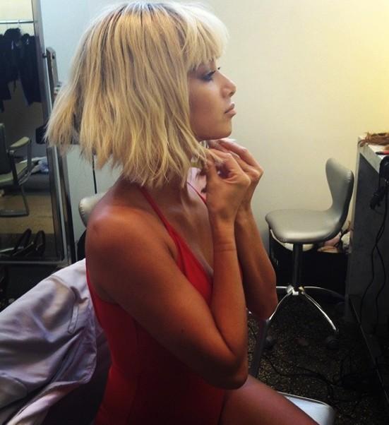 Николь Шерзингер примерила парик блондинки