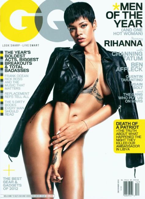 Рианна полностью разделась для обложки GQ