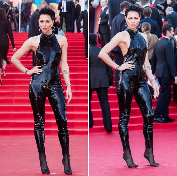 Настасья Самбурская пришла на открытие Московского кинофестиваля в BDSM-костюме