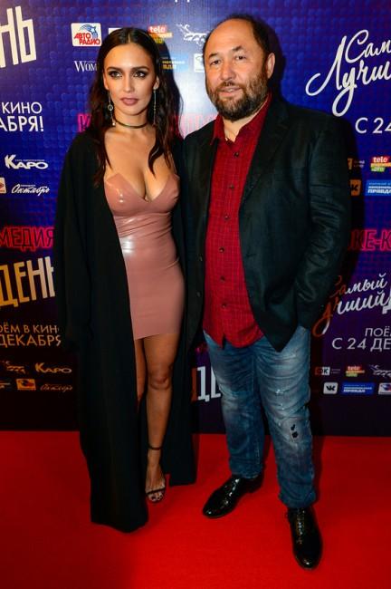Ольга Серябкина и Тимур Бекмамбетов на премьере фильма «Самый лучший день»