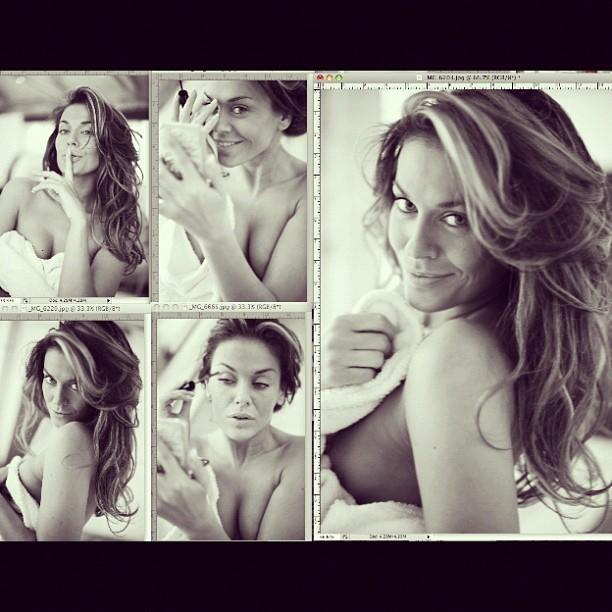 Таня Терёшина на съёмке для журнала Playboy