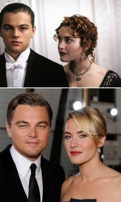 Звезды «Титаника» в 1997 году и в 2015-м